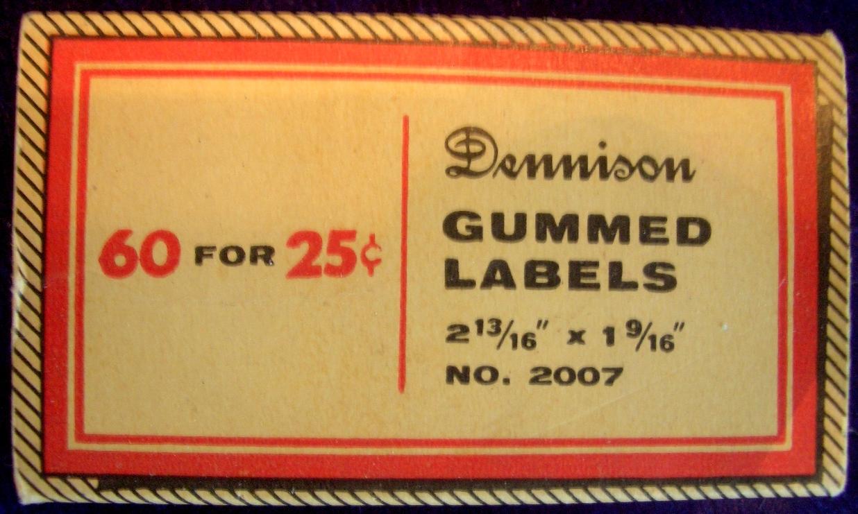 dennison gummed labels nothing over ten unique gifts under 10
